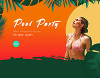 Pool Party – Landing Page For Free Design template
