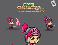 GIRL KNIGHT 2D GAME CHARACTER SPRITE