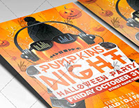 Pumpkin Night - Halloween Flyer PSD Template