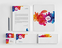 Colorful Abstract Stationery