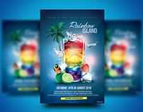 Rainbow Island Cocktail Flyer