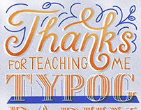 Thanks for Teaching Me Typography