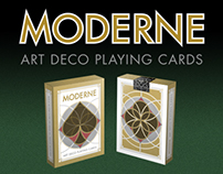 Moderne Art Deco Playing Cards
