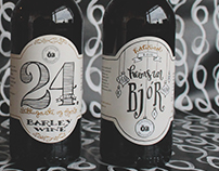 Ölvisholt Christmas brew labels and packaging