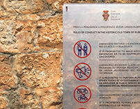 Rules of Conduct in the Historic Town of Dubrovnik