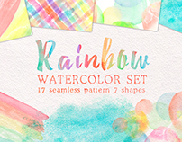 Rainbow watercolor collection