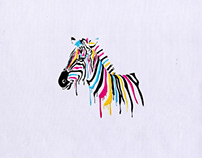 MAJESTIC COLOR DRIPPING HORSE EMBROIDERY DESIGN