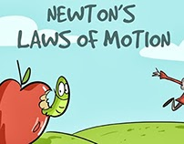 Illustrations for an I-pad App on Newton's Laws