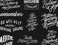 30 Days of Bible Lettering