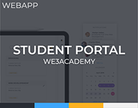 WE3 Academy Student Portal Web app Design