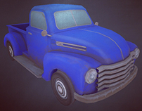 Pickup truck made for Unity Game Engine