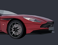 Aston Martin DB11 Low Poly