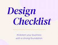 Free Design Checklist - designslang.com