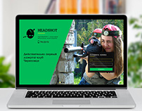 Website design for Headshot lasertag club