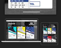 Supra Footwear productpage