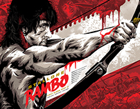 Rambo: First Blood Pt. II Licensed Screen-Print