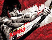 Rambo: First Blood Pt. II Licensed Screen-Print