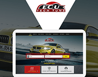 UX/UI website design for Cars Engine Tuning