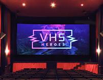 VHS Heroes branding