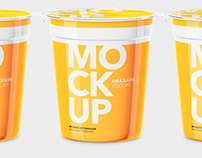 Yogurt Cup - High Angle - Mockup