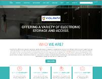 Violanta Website Design.