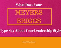 Meyers Briggs Leadership Styles | Jason William Kumpf