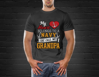 Navy grandoa shirt
