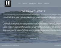 Custom Wordpress Website - Highlinerboats.us