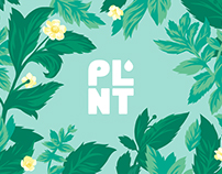 PLNT Water Packaging Illustration Set