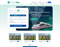 Online Train Ticket Booking Service Home Page