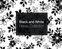 Black and White Florals Collection
