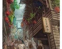 Digital Painting . Jiufen, Taiwan