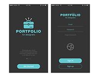 Portfolio for designers app