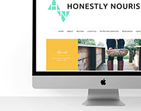 Honestly Nourished Website Elements Design