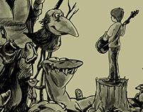 Familiar Creatures Album Cover Illustration