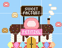 "Pixel art (Artworks for brand ""Petitzel"")"