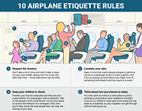 10 etiquette rules to remember next time you fly