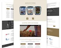 AXA healthcare insurance creative landing page design