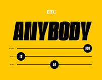 ETC Anybody - Variable Font