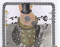 W-H-I-TE R-A-B-B-I-T (Alice in Wonderland) (collage)