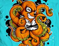 Judo Octopus - t-shirt