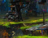 Jungle slums