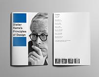 Dieter Rams's 10 Principles of Design Booklet
