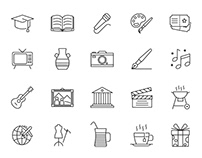 20 Culture Vector Icons