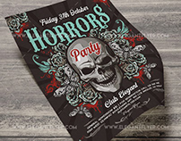 Horrors Party – Free Flyer PSD Template + Instagram tem