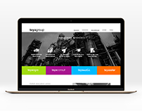 Corporate web site design with landing page style