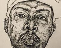 R.I.P. Phife Dawg Ink Drawing