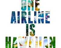Hawaiian Airlines Ad (Adobe Photoshop)