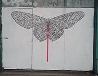 Butterfly candy stick