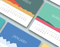 Flat Calendar 2017